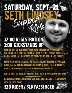 Seth Lindsey Support Ride