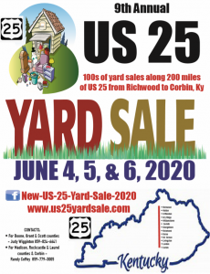 9th Annual US 25 Yard Sale