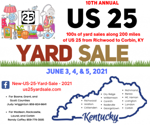 US 25 Yard Sale @ 200 Miles across U.S. 25